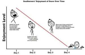 Southerner's Enjoyment of Snow